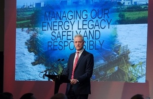 David Peattie, NDA CEO, speaking at Offshore Decommissioning Conference 2017