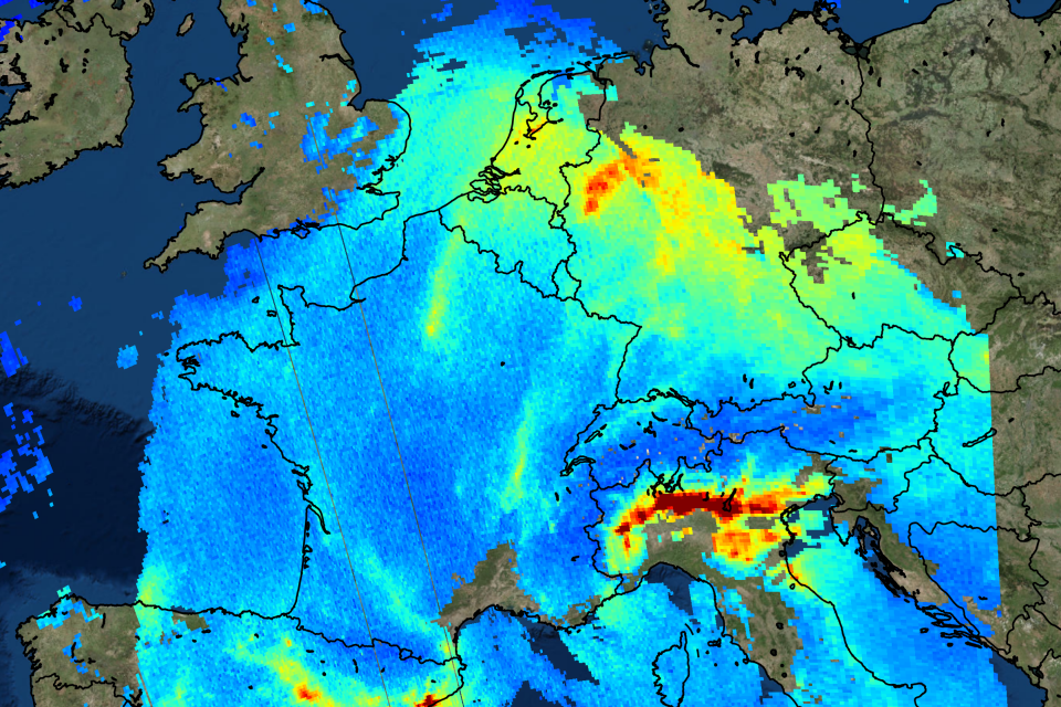 One of the first images from the Copernicus Sentinel-5P