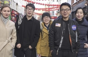 Chinese students in London