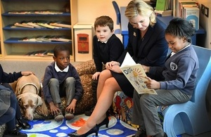Education Secretary Justine Greening visits School of the Year