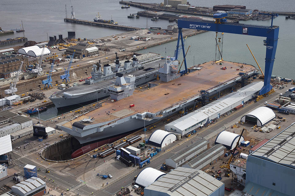 Defence Minister Harriett Baldwin has recognised the vital contribution that businesses from across the UK have made to the construction of the Royal Navy's largest ever ships.