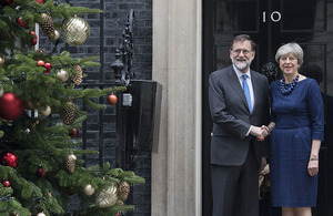 Prime Minister Theresa May and Prime Minister Rajoy