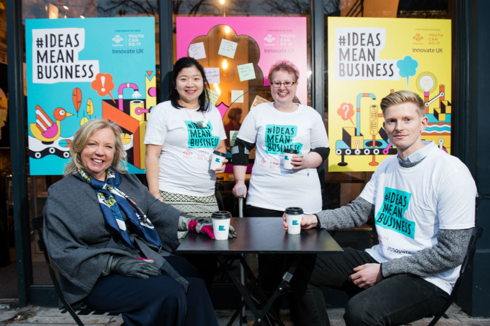 Deborah Meaden and Fanzi Down with ambassadors Alison Mayston and Luke Johnstone