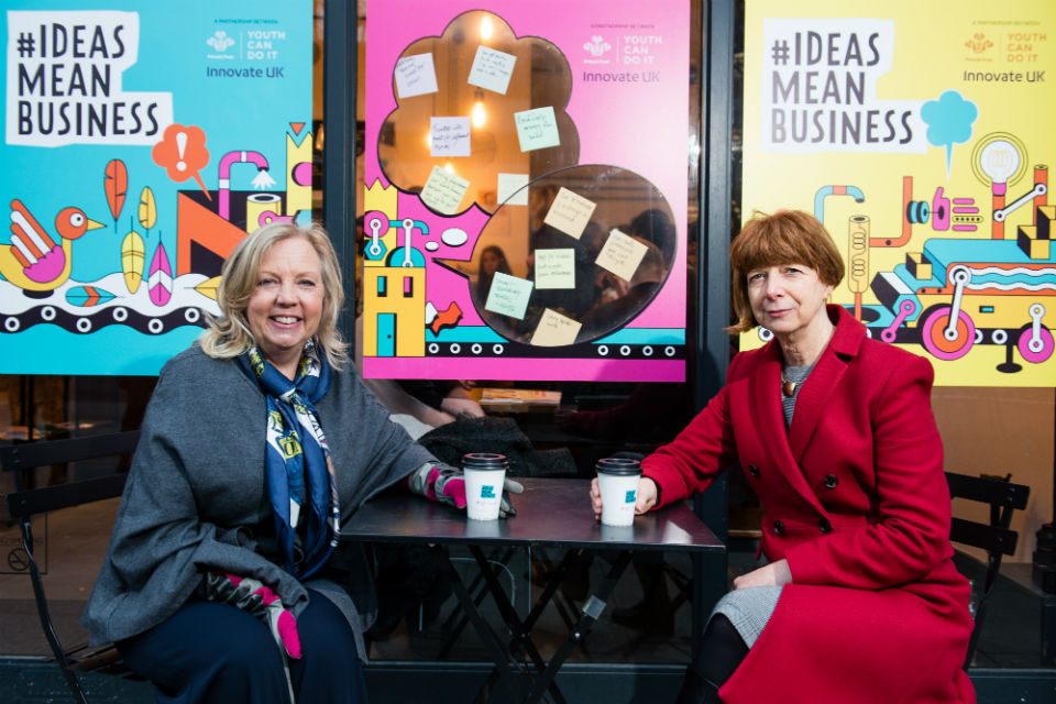 Deborah Meaden with Innovate UK's Ruth McKernan
