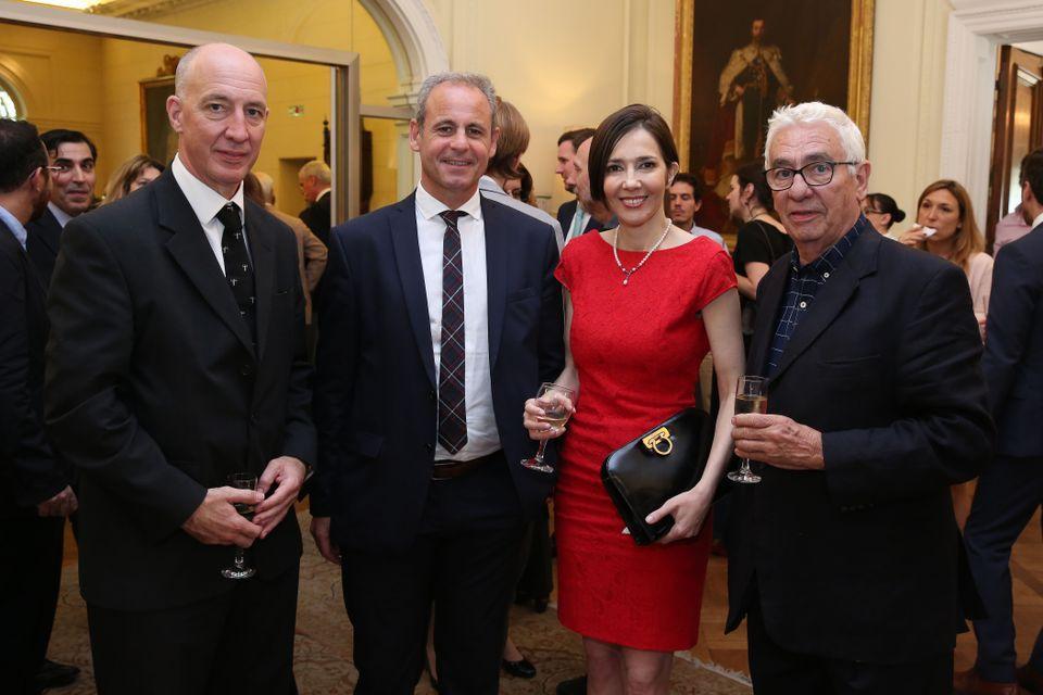 HMA Mark Kent, journalists Claudio Jacquelin and Cristina Pérez and goldsmith Carlos Pallarols