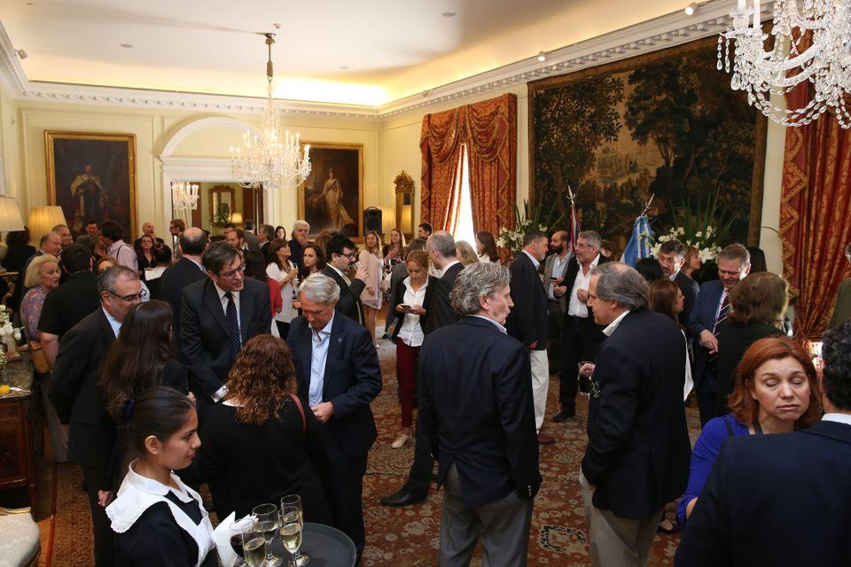 The reception at the British Residence