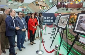 British High Commissioner, Thomas Drew at the Centaurus Mall