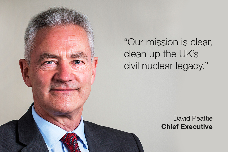 "NDA Chief Executive, David Peattie: ""Our mission is clear, clean up the UK's civil nuclear legacy."""