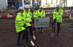 Construction begins on the new 270,000 sq ft Government building