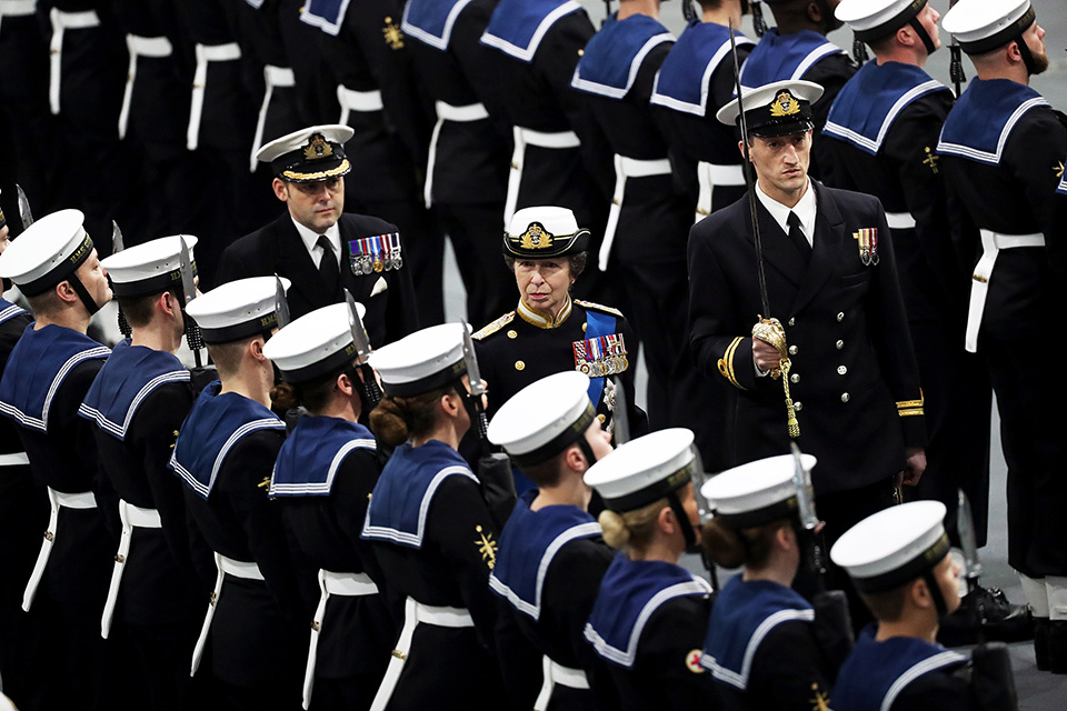 Her Royal Highness Princess Anne also attended the commissioning ceremony. Crown Copyright.
