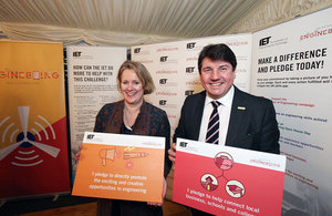Picture of Stephen Metcalfe MP and Vicky Ford MP at the Year of Engineering launch.