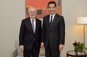 Governor King met the Chief Executive CY Leung