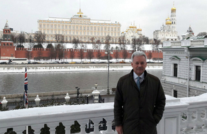 Minister Alan Duncan visiting Russia