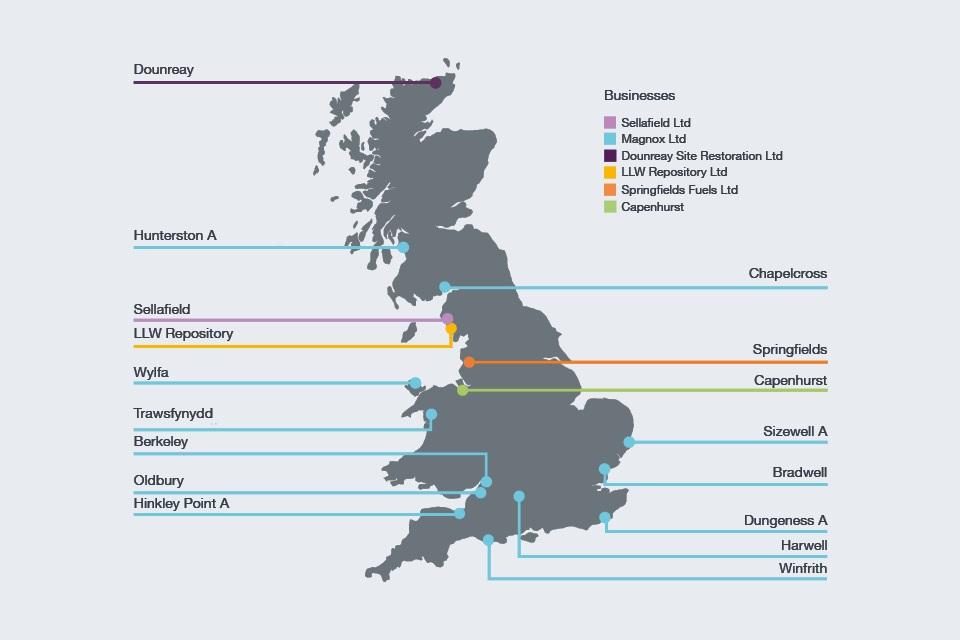 The NDA Group UK map