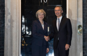 PM Theresa May with NATO Secretary General Jens Stoltenberg