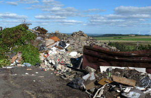 Image shows waste on the site