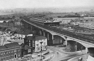 Bletchley viaduct 1973 - Not used since the early 1990s, the viaduct will be reopened