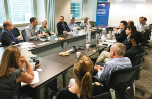 Director General Gareth Davies presented on the Industrial Strategy to businesses in Singapore, speaking about the long-term planning and investment opportunities in the UK.