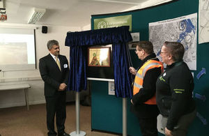 Unveiling the Rugeley flood scheme plaque