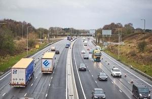 Traffic on a smart motorway