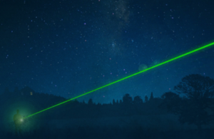 Image of person with laser pointer.