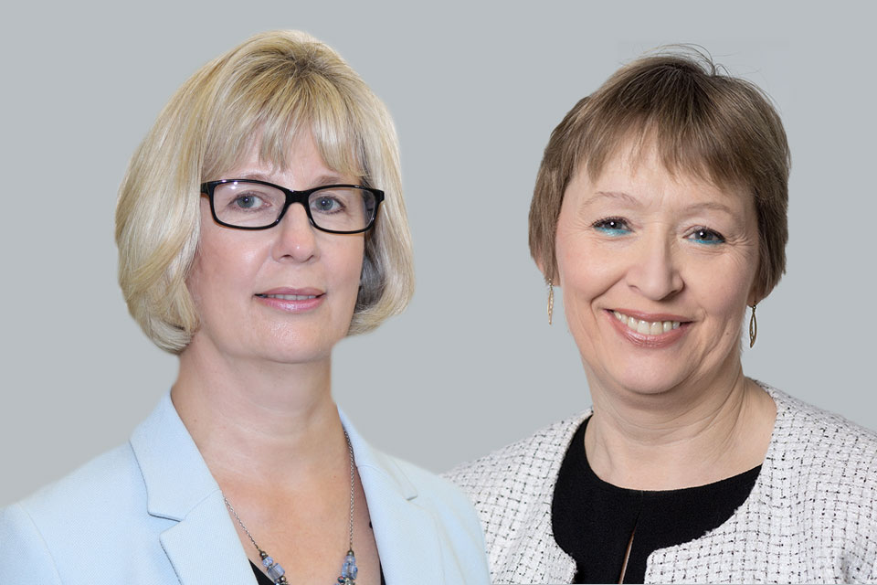 Melissa Tatton, Chief Executive of the VOA and Mary Hardman, Chief Valuer of the VOA.