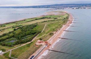 An image of the Dawlish Warren flood scheme