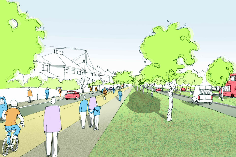 Artist's impression of how the current A5036 could be transformed