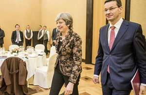 Prime Minister Theresa May in Poland