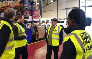 Alistair Burt meets DFID staff at Kemble
