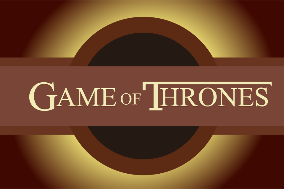 Graphic of the final image of the Game of Thrones opening titles sequence