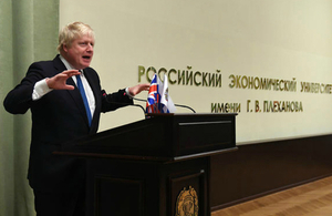 Foreign Secretary at Plekhanov University in Moscow
