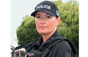 Constable Claire Batt, appointed MBE in New Years Honours, photo: Crown copyright. All rights reserved.