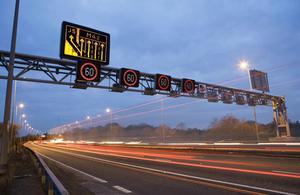 Smart motorways signage