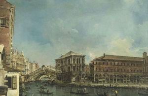 The Rialto Bridge with the Palazzo dei Camerlenghi, by Francesco Guardi.