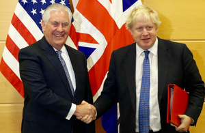 Foreign Secretary Boris Johnson and US Secretary of State Rex Tillerson.
