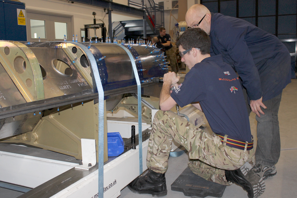 A former Army apprentice working on the Bloodhound supersonic car