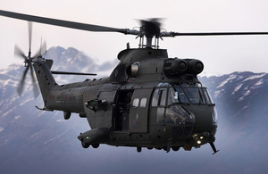 £100 million deal to provide future support to the Royal Air Force's fleet of Puma HC Mk2 helicopters. Crown copyright.