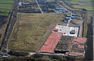 Aerial view of the Low Level Waste Repository.