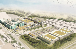 Artist's impression of the PHE science campus in Harlow