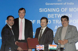 MoU signing between TfL and govt of India