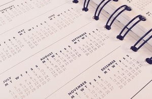 Page of a calendar.