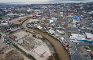 The Humber Hull Frontages will improve flood protection to 113,000 properties in Hull.