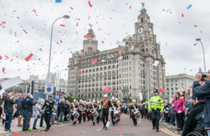 The Military parade at the Armed Forces Day National Event 2017 in Liverpool