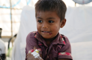 Four-year-old Anawar has beaten diphtheria thanks to the efforts of British medics in Kutupalong camp, Bangladesh. Picture: Russell Watkins/DFID