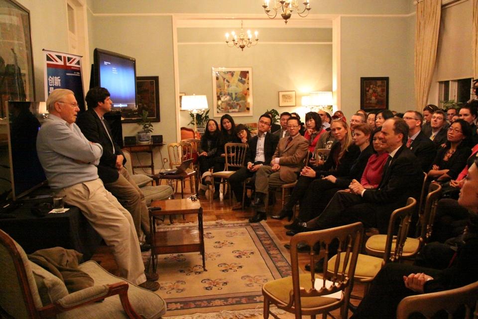 Sir David Attenborough showcases latest work in British Embassy appearance.