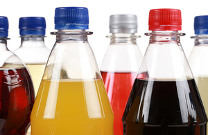 Bottles of fizzy drinks