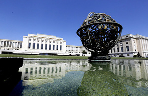 The Universal Periodic Review takes place at the Palais des Nations in Geneva