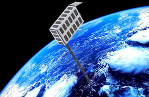 Graphic showing the WISCER CubeSat