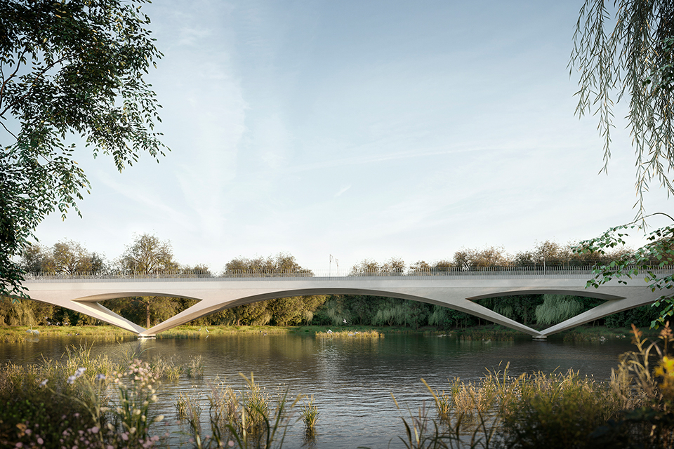 Concept of the Colne Valley viaduct
